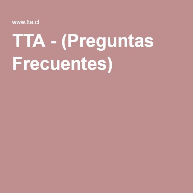 TTA - (Preguntas Frecuentes)