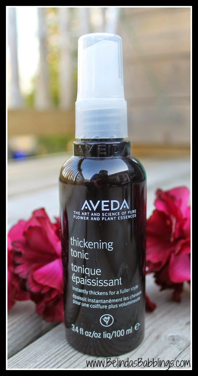 Aveda's Thickening Tonic- smells AHHHMAZING!!! This really works and hair is amazing!