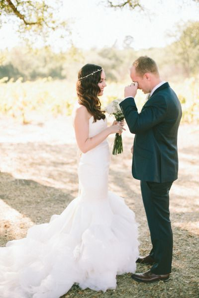 Tears of joy: http://www.stylemepretty.com/2014/05/22/sweetest-first-look-moments-on-smp/