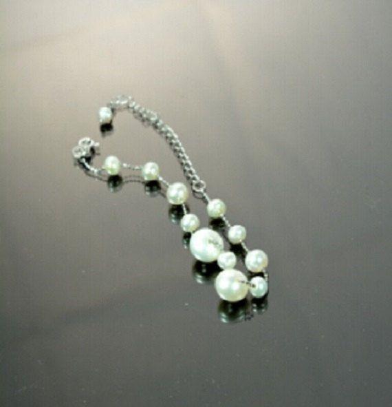Freshwater pearls bracelet 925 adjustable silver by Irenesgem