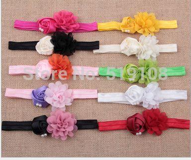 Fascinators моды цветок повязка на голову девочка лента для волос дети волос группа волос гирлянды рождество волосы бант