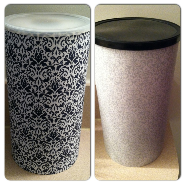 Oatmeal Canister Upcycle For Toilet Paper Storage In The