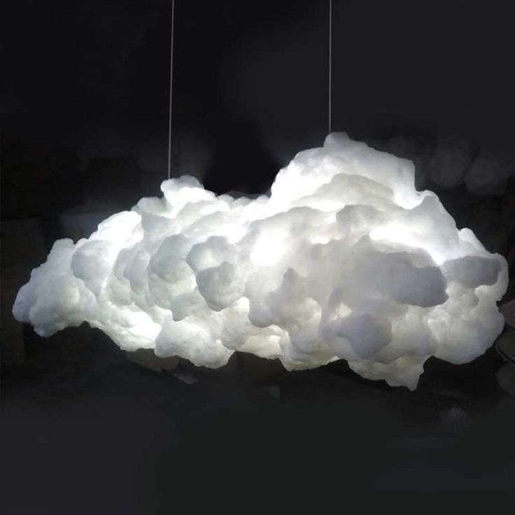 White Cloud Lampshade Contemporary Ceiling Light Pendant Hanging Lamp 60cm NEW…