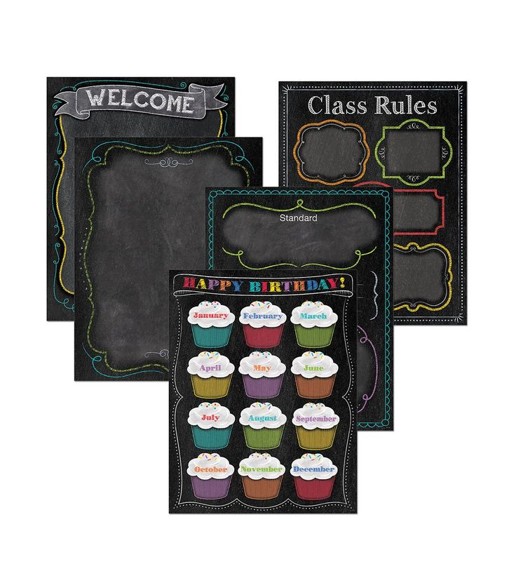 Chalk It Up! Classroom Essentials Chart Pack