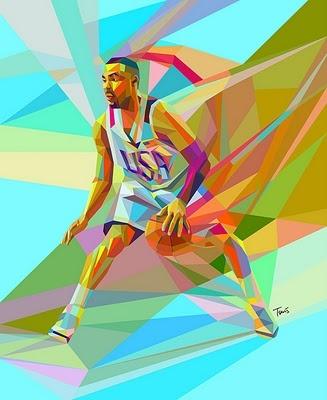 Basketball art.