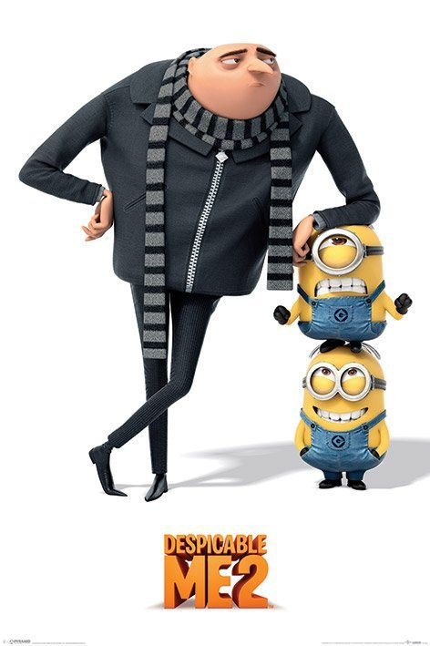 Despicable Me 2 - Gru And Minions poster.