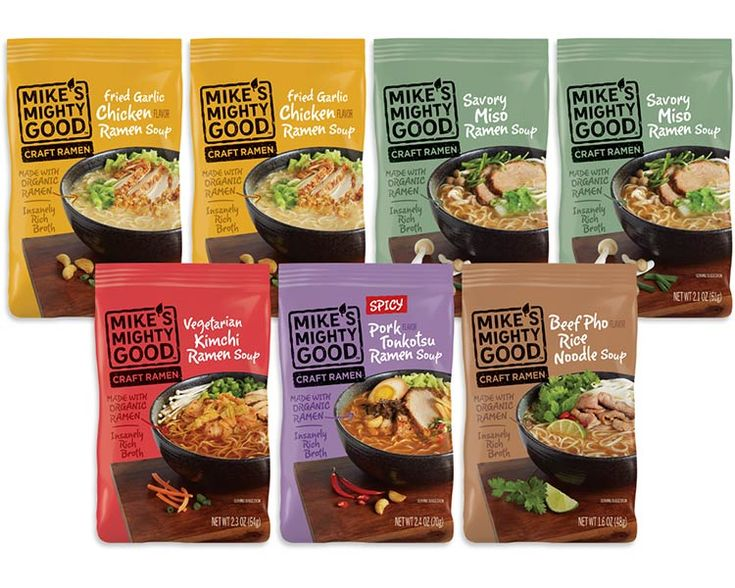 The best way to try all our pillow pack flavors! Our sampler includes: 2 x Fried Garlic Chicken Flavor Ramen Noodle Pillow Pack 2 X Savory Miso Ramen Noodle Pillow Pack 1 X Vegetarian Kimchi Ramen Noodle Pillow Pack 1 X Spicy Pork Tonkotsu Flavor Ramen Noodle Pillow Pack 1 X Beef Pho Flavor Rice …