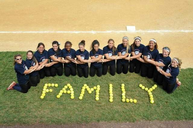 My softball team is my second family.                              …