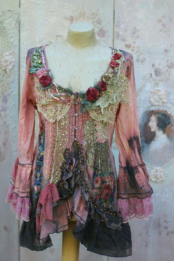 SOFIA lace BLOUSE romantic, Victorian, chabby chic, Bohemian, hippie Gypsy
