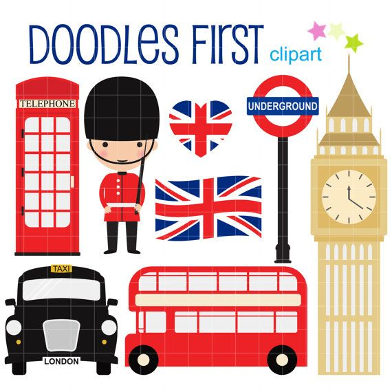 London Collection Digital Clip Art for by DoodlesFirst on