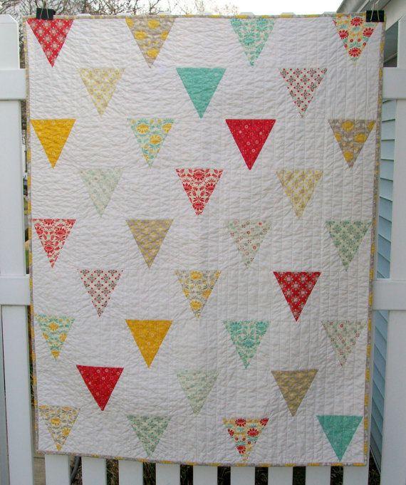 Baby Jane Flag Modern Patchwork Quilt Baby Toddler Girl