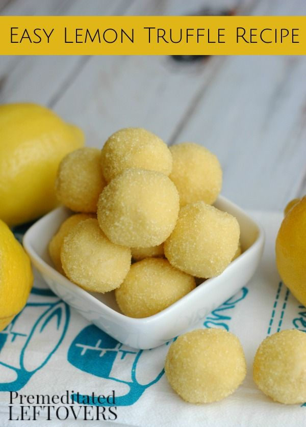 Easy Lemon Truffle Recipe- Grab a box of lemon cake mix and whip up these lemon truffles! They are simple to make and taste amazing!