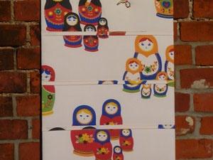 Handmade Russian Doll Notice Board