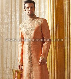 Traditional men's wedding wear