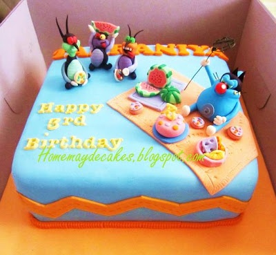 Home Mayde Cakes: Gallery Oggy coackroaches