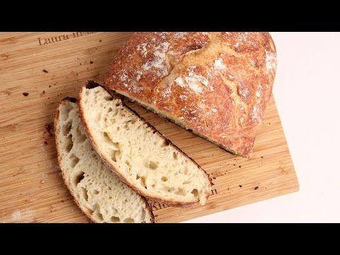 No-Knead Rustic Bread Recipe - Laura Vitale - Laura in the Kitchen Episode 1025 - YouTube