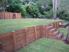 Retaining walls by Chris Freeman, via Behance.net simple, flat, ready for plantings and patio space!