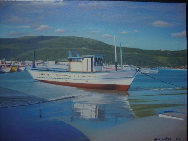 BARCO N.A. INDEFERIDO Óleo s/tela 40x50 cm.   VENDIDO.