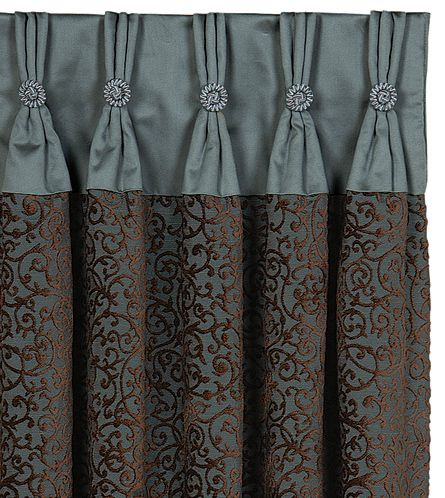 Astoria Sea Curtain Panel from Eastern Accents