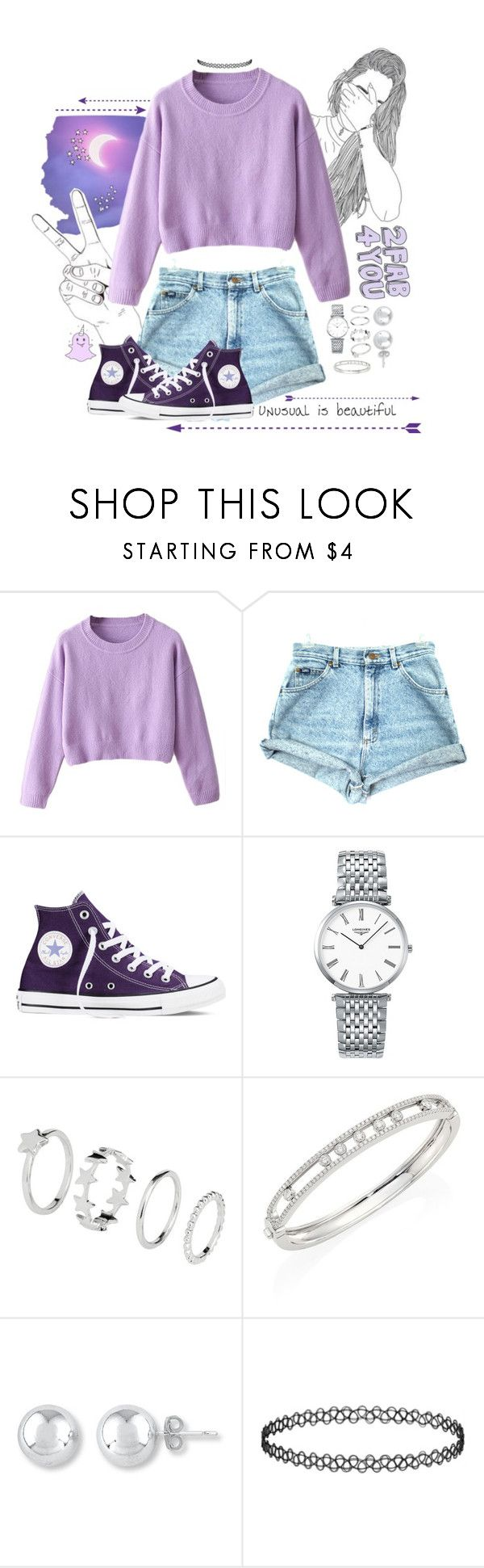 """2FAB4YOU"" by galaxygirl12427 ❤ liked on Polyvore featuring Allura, Converse, Longines and Messika"