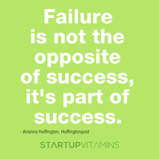 Failure is PART of SUCCESS startups entrepreneurs