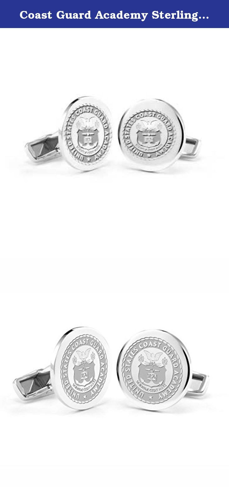 Coast Guard Academy Sterling Silver Cufflinks. U.S. Coast Guard Academy sterling silver cufflinks feature finely detailed USCGA crest. Graduation Gift Selection.