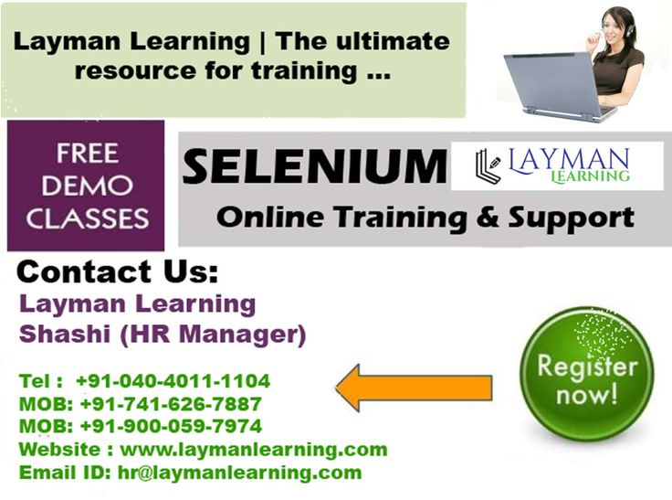 https://flic.kr/p/AFgCjJ | selenium12 | best site to learn Selenium? .... Get instant success in your career with our selenium online training by Layman Learning. Visit: www.laymanlearning.com