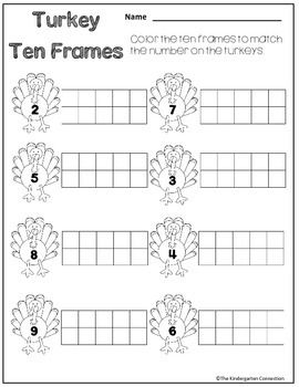 November Print- that's it! Free sample of 4 pages from the math and literacy pack for kindergarten!