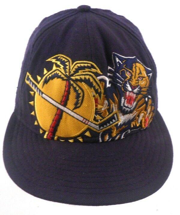 461872b1c01b9 Florida Panthers NHL Hockey New Era VTG Logo Fitted 7 1 8 Cap Hat  NewEra   FloridaPanthers