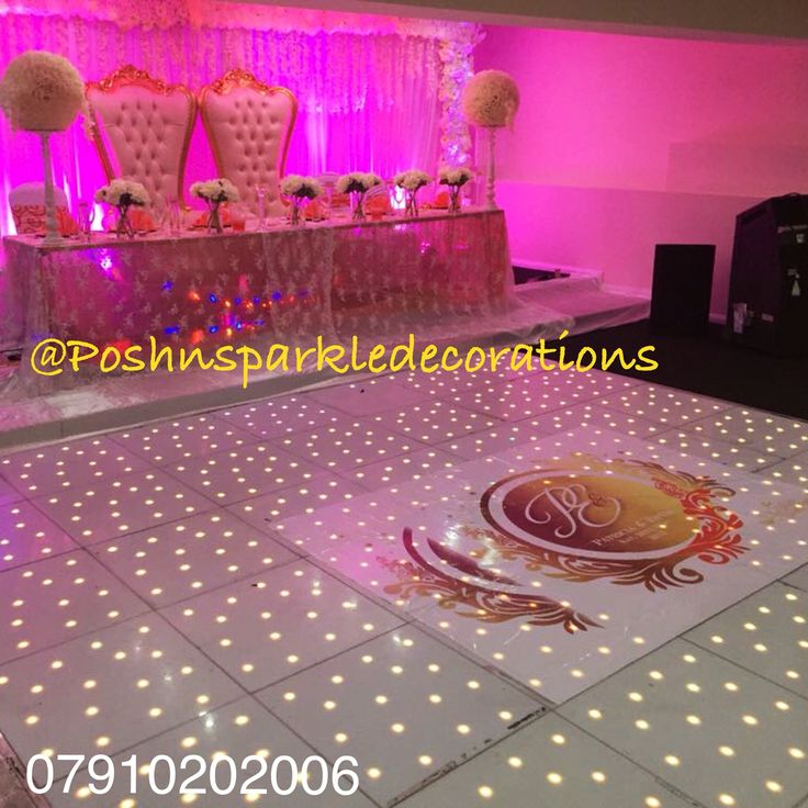 Head table with our sparkle touch