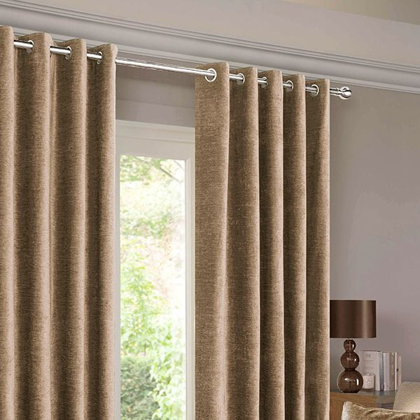 Balmoral Mink Eyelet Curtains Grey CurtainsLiving Room IdeasLiving