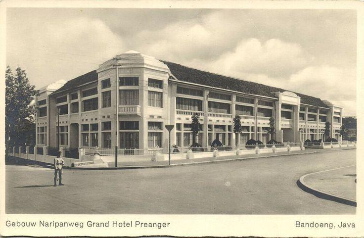 indonesia, JAVA BANDOENG BANDUNG, Grand Hotel Preanger, Naripanweg (1930s) RPPC nl.picclick.com