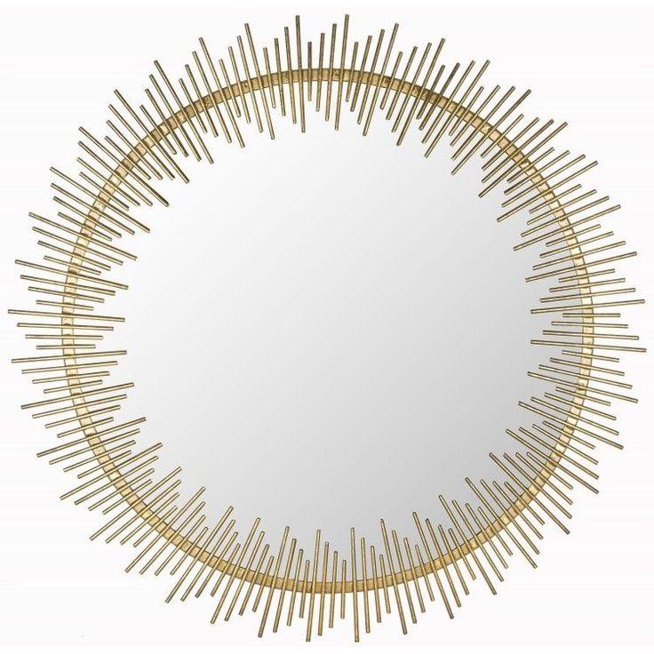 Gold #Sunburst #Mirror Wall Hanging Spiral Art Deco Modern  Large Hand Forged Iron #Safavieh #Modern #ShoppingRay #DanAnnStore