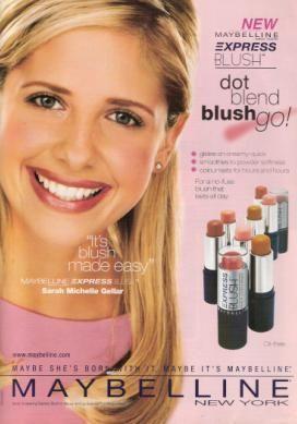 SMG in Maybelline Express Blush advertisement - sarah-michelle-gellar Photo