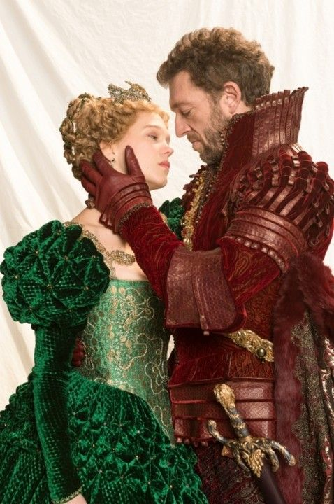 Léa Seydoux and Vincent Cassel, in The Beauty And The Beast, directed by Christophe Gans.