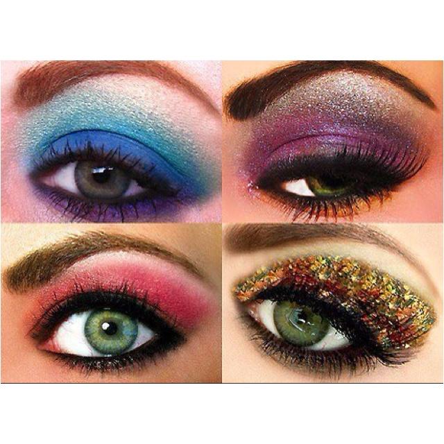 Dramatic eye makeupDiscos Ball, Eye Shadows, Colors, Beautiful, Makeup Ideas, Makeup Looks, Eyeshadows, Glitter, Eye Makeup Tutorials