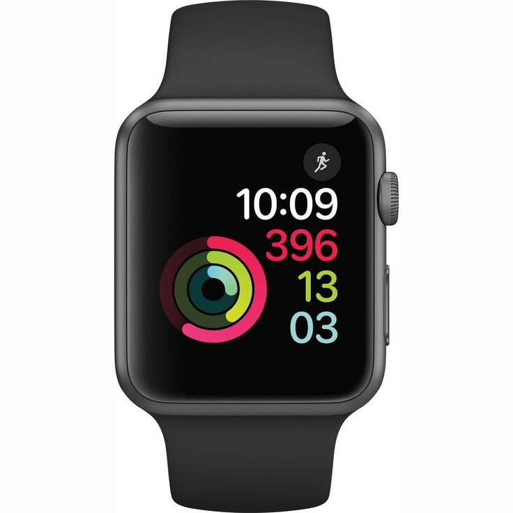 Apple Watch Series 1  42mm Space Grey Aluminium Case with Black Sport Band  MP032