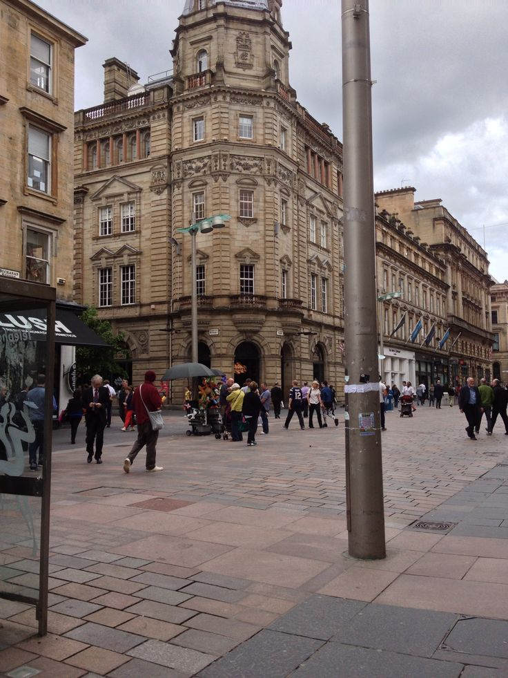 Downtown Glasgow,Scotland.