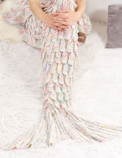 Shop Multicolor Textured Fish Tail Knit Mermaid Blanket online. SheIn offers Multicolor Textured Fish Tail Knit Mermaid Blanket & more to fit your fashionable needs.