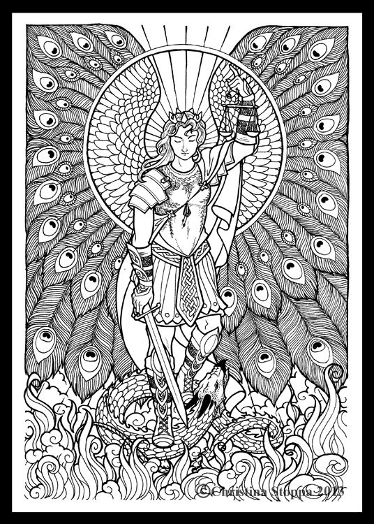 1000 images about coloring pages angels on pinterest for St michael coloring page