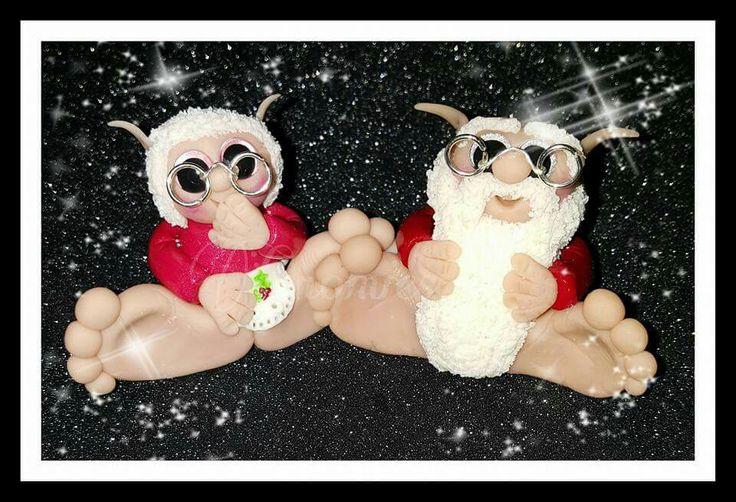 Mr & mrs santa gnomie