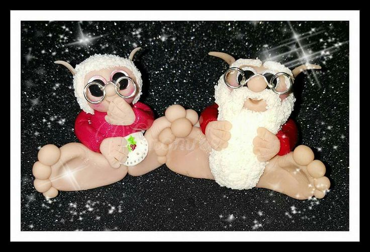 Mr & mrs santa gnomie