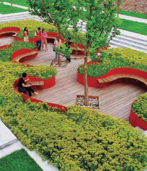 Red ribbon park pesquisa google paisagismo pinterest for Red landscape architects