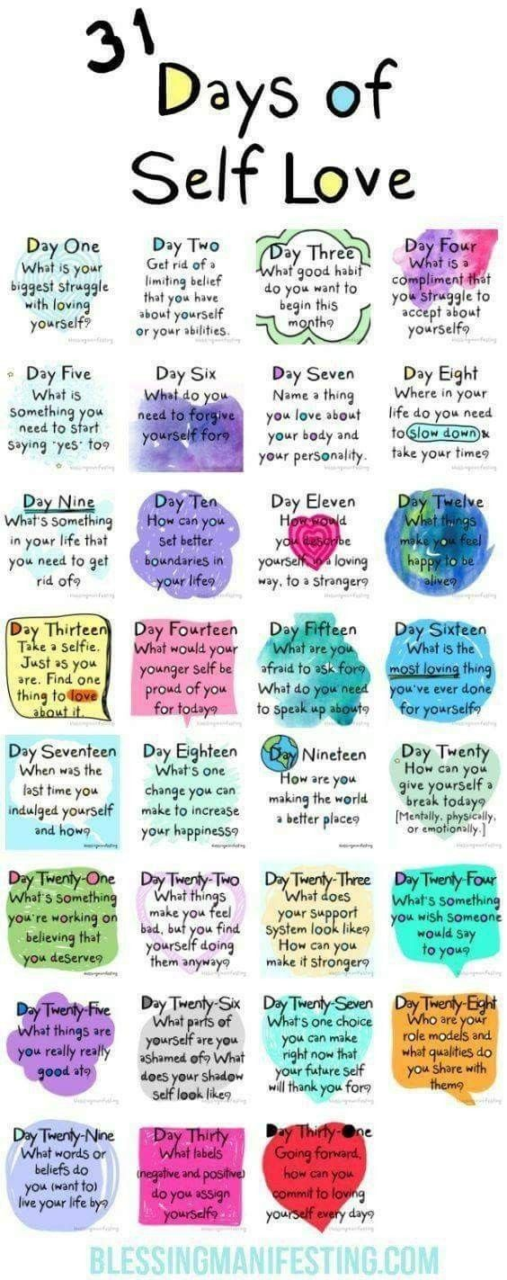 31 days of self-love