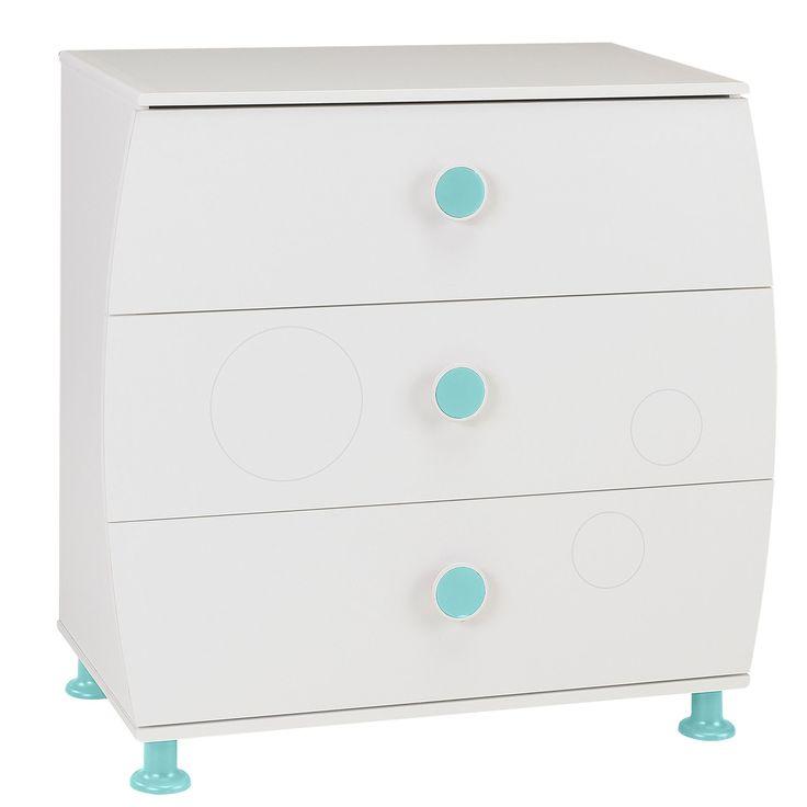 commode enfant 3 tiroirs bleu ou rose blanc leo et lea les