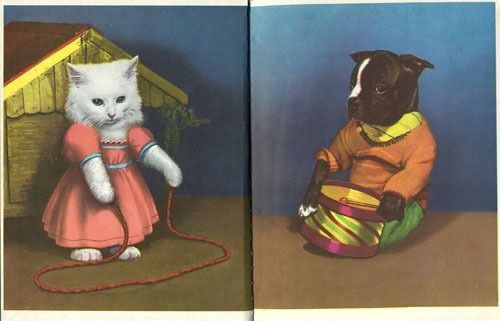 "endpapers to ""Little Friends"" by Ruth Dixon; Photographed by Rie Gaddis; Rand McNally, 1951"