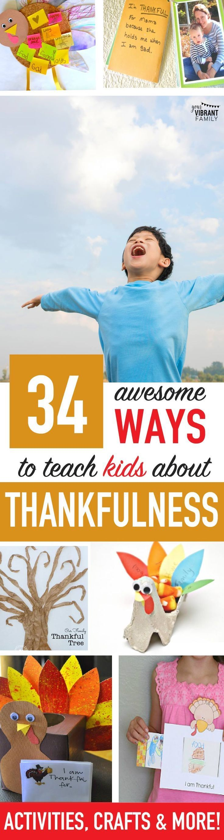 WOW! 34+ Thanksgiving Crafts, Printables, Books and Activities that Teach Kids About Being Thankful! So many GREAT IDEAS here! #thanksgivingcrafts #thanksgivingideas #thankfulnessideas #givethanks #thanks #thanksgiving