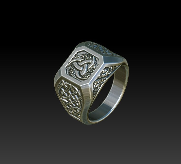 Wedding ring signet ring celtic rings mens ring men39s ring for Celtic wedding rings for men