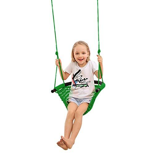 Jksmart Swing Seat For Kids Heavy Duty Rope Play Secure Children Swing Set Perfect For Indoor Outdoor Playground Home Swing Sets For Kids Kids Swing Swing Set