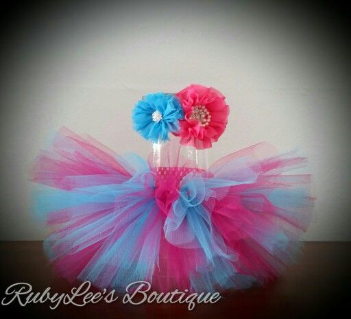 #Fuchsia #Turquoise #PhotoProp #BabyGirl #Outfit  #CakeSmash #Tutu #Headband #Matching #Set  #Birthday Rubylee's Boutique Online https://www.facebook.com/Rubyleesboutiqueonline